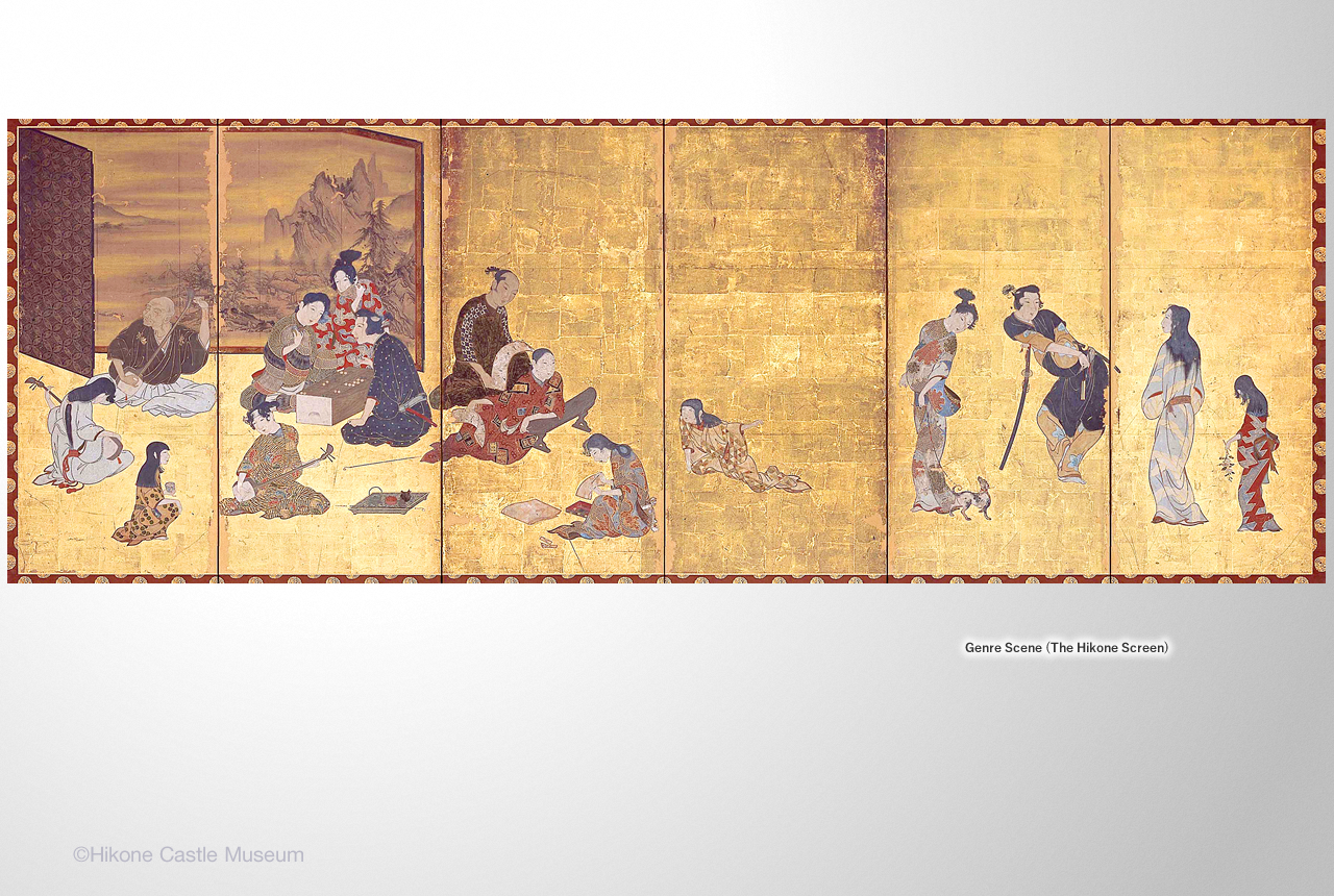 Genre Scene (The Hikone Screen)