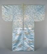 A539-2(摺箔 浅葱地槍梅と七宝繋ぎ文様)