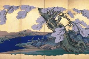 04桜図(右隻)狩野永岳筆